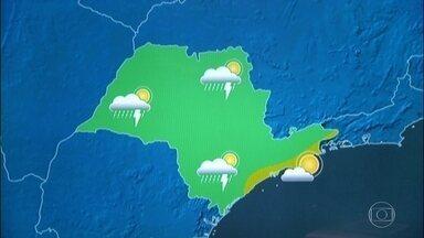 Confira a previsão do tempo para a sexta-feira (24) em São Paulo - A sexta-feira (24) começa com 16 graus e a máxima fica em 28 graus, pode chover à tarde.