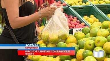 Tributo embutido no preço dos produtos assusta consumidores - 400 milhões em impostos já foram pagos neste ano na região.