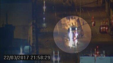 Greve dos caminhoneiros autônomos vira caso de polícia em Itajaí - Greve dos caminhoneiros autônomos vira caso de polícia em Itajaí