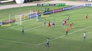 Jogo entre CSA e CRB termina 0 a 0, no Estádio Rei Pelé - Jogo realizado na noite de domingo (26), foi transmitido ao vivo.