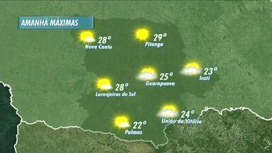 A previsão é de sol pra esta quarta-feira na região - O sol predomina em boa parte do dia.