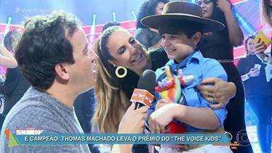 Vídeo Show - Programa de segunda-feira, dia 03/04/2017, na íntegra - Rafael Cortez mostra os bastidores do 'The Voice Kids' no 'Vídeo Show'