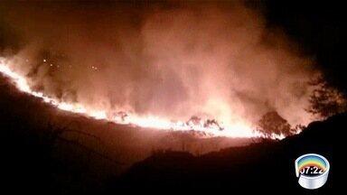 Aumentam as queimadas na região - Problema aumenta com a chegada do tempo seco.