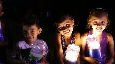 Projeto Litro de Luz leva energia a comunidade no AM - Ação social ajuda a levar qualidade de vida ao interior.