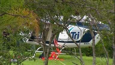 Bandidos roubam helicóptero no RS - A polícia do Rio Grande do Sul investiga o roubo de um helicóptero na região da Serra Gaúcha. A aeronave chegou a ser levada pelos bandidos, mas foi abandonada antes mesmo de ser usada num crime.