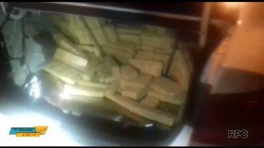 PRF apreende mais de 140 kg de maconha em Santa Terezinha do Itaipu - A droga estava escondida no fundo falso de um carro.