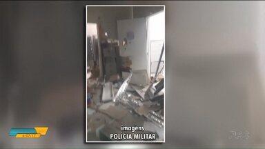 Bandidos explodem agência bancária e trocam tiros com a polícia em Ampére - Os bandidos ainda deixaram um material suspeito de ser explosivo no local.