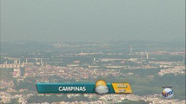 Semana começa com temperaturas altas e tempo seco em Campinas - Máxima para a cidade deve ser de 28ºC nesta segunda-feira (10).