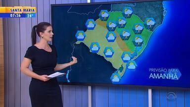Tempo: terça-feira (11) deve ser de chuva no RS - Frio fica mais intenso no estado.
