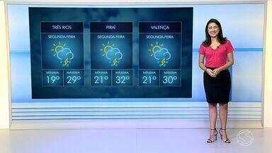 Semana começa com céu aberto no Sul do RJ e previsão de chuva isolada para o fim do dia - Confira as temperaturas máximas e mínimas previstas para cidades da região nesta segunda-feira (10).