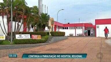 Paralisação dos médicos do Hospital Regional de Rondonópolis chega ao sexto dia - Paralisação dos médicos do Hospital Regional de Rondonópolis chega ao sexto dia.