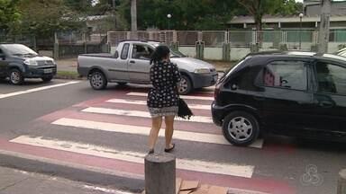 Imprudência de motoristas e pedestres causa acidentes no trânsito - Trânsito seguro é responsabilidade de todos.
