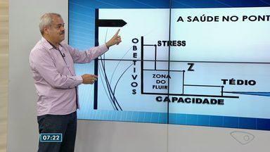 Médico do ES fala sobre equilíbrio entre estresse e tédio - Jorge Miranda participou ao vivo do Bom Dia ES.