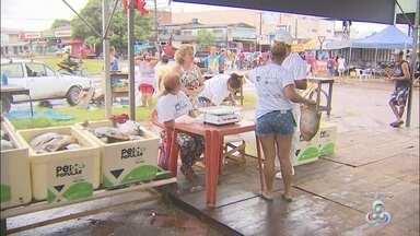Consumidores de Macapá vão às feiras na Semana Santa para garantir peixe barato - Média de preços do quilo do produto varia de R$ 5 a R$ 10. Projetos de venda a preço popular ocorrem de 11 a 14 de abril, em Macapá, Santana e Porto Grande.
