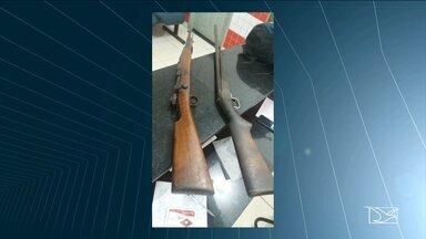 PM de Balsas apreende fuzil e espingarda que teriam sido usadas em roubo a banco - PM de Balsas apreende fuzil e espingarda que teriam sido usadas em roubo a banco