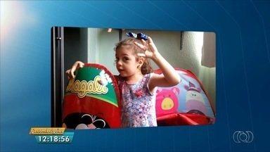Telespectadora mirim, de 2 anos, manda vídeo para o JA 1ª Edição - Júlia deu um show de fofura.