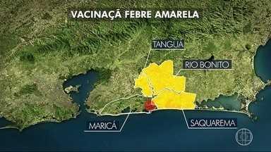 Vacinação contra a febre amarela é reforçada em Maricá, no RJ - Assista a seguir.
