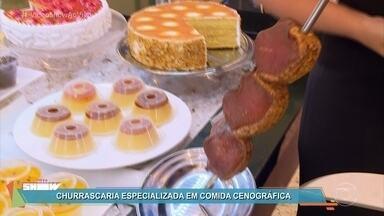 'Vídeo Show' desvenda o cardápio da churrascaria Boi Amigo - Júlia Rabelo mostra que nada é o que parece ser no restaurante de 'Rock Story'