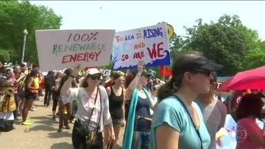 Marcha contra mudanças climáticas reúne mais de 150 mil nos EUA - Evento, em Washington, é para pressionar os líderes mundiais a agirem contra as mudanças climáticas.