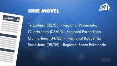 Sine Móvel atende trabalhadores, nas regionais de Curitiba, esta semana - O trabalhador poderá ser encaminhado para uma vaga de emprego ou se inscrever para uma vaga de trabalho.