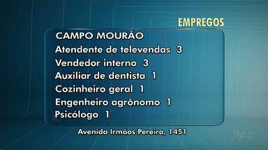 Agência de Campo Mourão tem vagas para psicólogo e engenheiro agrônomo - Veja outras vagas de emprego para Maringá e Paiçandu.