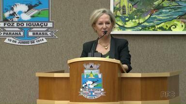 Inês Weizemann renuncia à presidência da Câmara de vereadores para assumir Saúde - Anunciada como nova secretária da saúde, Inês renunciou e agora vai haver nova eleição na Câmara de Vereadores.