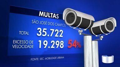 Motoristas de São José estão abusando no acelerador - Maioria das multas é por excesso de velocidade.