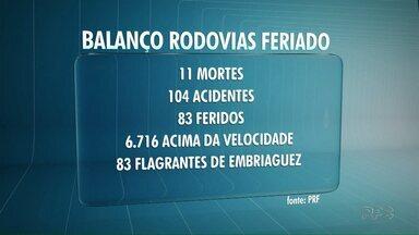 Acidentes matam 11 pessoas durante o feriado de 1º de Maio na região de Londrina - Foram registrados pouco mais de 100 acidentes, onde outras 83 pessoas ficaram feridas.