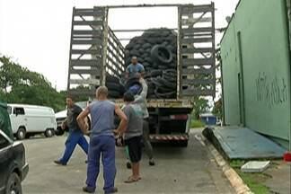 Secretaria de Meio Ambiente recolhe pneus no bairro do Sesc em Suzano - Serviço será realizado a partir das 13h30. Em abril, cerca de dois mil pneus foram recolhidos na cidade.