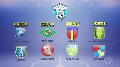 Confira as oito equipes classificadas para as quartas de final da Copa Rio Sul de Futsal - Veja também quem entra em quadra neste fim de semana.