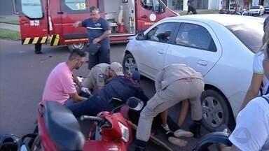 Acidente em Sinop deixa duas mulheres feridas - Acidente em Sinop deixa duas mulheres feridas.