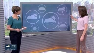 Veja a previsão do tempo para sexta-feira (12) - Durante a manhã, a temperatura chegou a 12 graus e o dia segue sem previsão de chuva.