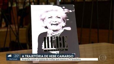 Livro que conta a história da apresentadora Hebe Camargo é lançado em São Paulo - Biografia escrita pelo jornalista Arthur Xexéu foi lançada na noite desta segunda-feira (11) com a presença de amigos e fãs da apresentadora.