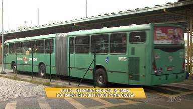 Justiça determina redução da tarifa de ônibus em Ponta Grossa - Segundo a determinação, valor da passagem deve voltar ao valor de R$ 3,20.