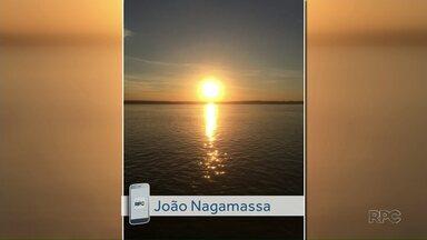 Foto do entardecer do Rio Paraná é enviada no aplicativo Você na RPC - Envie também sua foto, vídeo ou sugestão de reportagem.