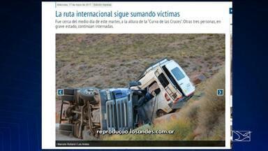 Turistas maranhenses morrem em acidente na Argentina - Turistas maranhenses morrem em acidente na Argentina