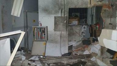 Grupo armado explode cofre de agência bancária em Ibiraci (MG) - Grupo armado explode cofre de agência bancária em Ibiraci (MG)