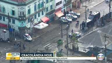 Polícia faz operação contra tráfico de drogas e Doria diz que Cracolândia 'acabou' - Ação teve 38 presos; usuários também foram atingidos pela operação e, na dispersão, imóveis da região foram invadidos e carros tiveram vidros quebrados.