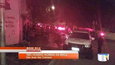 Briga terminou com três homens mortos em São José dos Campos - Confusão aconteceu no sábado à noite.