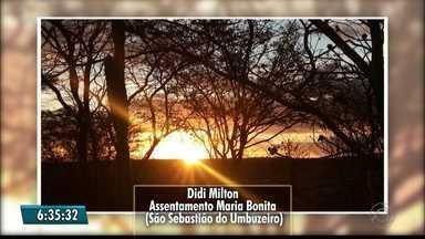 Veja imagens do amanhecer na Paraíba - Bom Dia Paraíba exibe imagens enviadas pelos telespectadores.