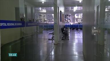 Serviços de limpeza são parcialmente suspensos no hospital regional de Sorriso - Serviços de limpeza são parcialmente suspensos no hospital regional de Sorriso.