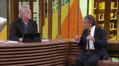 Pedro Bial e Carlos Ayres Britto conversam sobre a Constituição - 'Conversa com Bial' recebe ex-ministro do STF