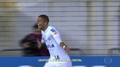 Santos goleia Sporting Cristal e termina em primeiro lugar do grupo 2 da Libertadores - Santos goleia Sporting Cristal e termina em primeiro lugar do grupo 2 da Libertadores