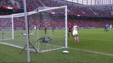 Os gols de Atlético-PR 1 x 1 Flamengo pela 3ª rodada do Brasileirão - Mancuello abriu para o Fla e Thiago Heleno empatou para o Furacão.