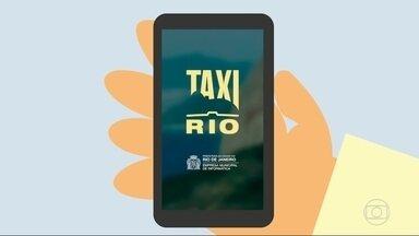 Prefeitura do Rio lança aplicativo para táxis - Passageiros vão poder chamar táxis pelo celular.