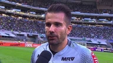Victor fala sobre defesa de pênalti contra o Palmeiras - Victor fala sobre defesa de pênalti contra o Palmeiras.