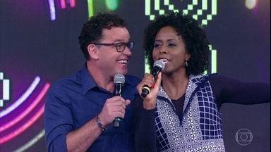 Maju Coutinho e Fernando Rocha acertam a segunda música - Dupla empata a competição