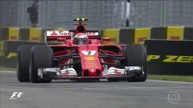 Líderes da F1 terminam dia preocupados com o desempenho de um campeão mundial - Apesar de estarem no topo da tabela de classificação, o mais rápido do dia foi Kimi Raikkonen, o único a andar abaixo de um minuto e 13 segundos.