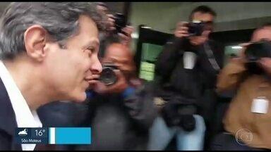 Haddad depõe em investigação sobre conduta de promotor de Justiça - O ex-prefeito prestou depoimento nesta terça (13) em uma investigação que apura uma denúncia que ele mesmo fez contra o promotor de Justiça Marcelo Milani.