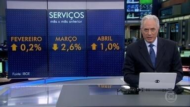 Setor de serviços tem o melhor resultado para o mês de abril em quatro anos - O crescimento do setor foi de 1% na comparação com março, que tinha ficado negativo. Serviços é o setor que mais emprega no Brasil.
